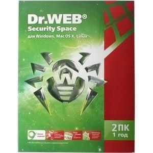 Программный продукт Dr.Web Security Space BHW-B-12M-2-A3 Регистрационный ключ 2 ПК на 1год