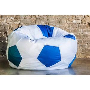 Кресло мяч Bean-bag Оксфорд бело голубой