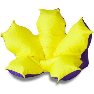 Кресло-мешок DreamBag Цветок желто-фиолетовый (оксфорд)