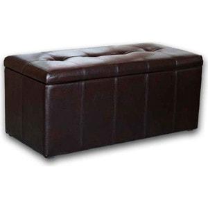 Пуф DreamBag Лонг коричневая кожа