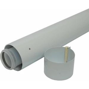 Труба Vaillant удлинительная DN 60/100 длиной 1000 мм в комплекте с хомутом (303802)