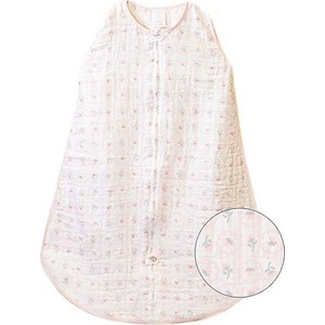 Спальный мешок SwaddleDesigns Muslin zzZipMe Sack - 6-12M Pink Posies (SDM-404PP-M) конверт summer infant хлопковый спальный мешок swaddleme wiggle blanket pink розовый размер s m