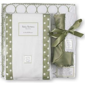Подарочный набор SwaddleDesigns для новорожденного Gift Set Sage Mod on WH (SD-022S-G)