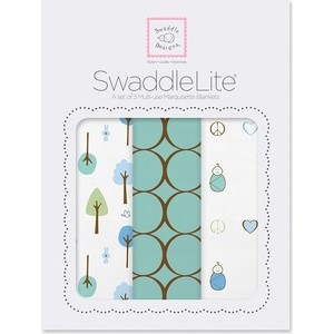 Набор пеленок SwaddleDesigns SwaddleLite Cute and Calm SeaCrystal (SD-441SC) цена и фото