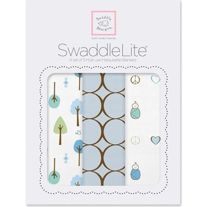 Набор пеленок SwaddleDesigns SwaddleLite Cute and Calm Pastel Blue (SD-441PB) цена и фото