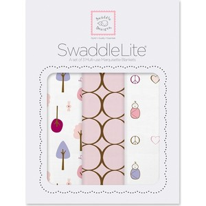 Набор пеленок SwaddleDesigns SwaddleLite Cute and Calm Pastel Pink (SD-441PP)