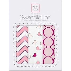Набор пеленок SwaddleDesigns Наборы пеленок SwaddleLite Chic Chevron Lite Pink (SD-360P)