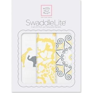 Набор пеленок SwaddleDesigns SwaddleLite SC Elephant/Chickies (SD-476Y) пеленка детская тонкая swaddledesigns маркизет sc elephant chickies sd 458sc