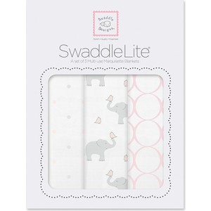 Набор пеленок SwaddleDesigns SwaddleLite PP Elephant/Chickies (SD-478PP) набор пеленок swaddledesigns swaddle duo lv classic chevron sd 484l