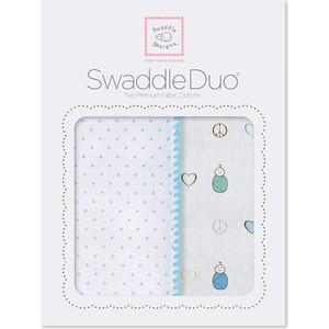 Набор пеленок SwaddleDesigns Swaddle Duo BL Peace/LV/SW (SD-185B) prestige sw 1683cf bl