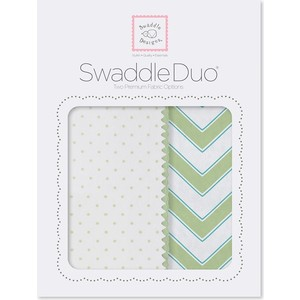 Набор пеленок SwaddleDesigns Swaddle Duo KW Classic Chevron (SD-484KW) chevron striped double v fluted sleeve dress