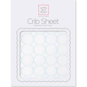 Детская простынь SwaddleDesigns Fitted Crib Sheet Pstl. Blue Mod (SD-152PB) sweet jojo designs elizabeth fitted crib sheet