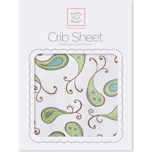 Детская простынь SwaddleDesigns Fitted Crib Sheet Kiwi Paisley (SD-155KW) sweet jojo designs elizabeth fitted crib sheet