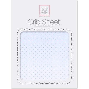 Детская простынь SwaddleDesigns Fitted Crib Sheet Lt. PB w/PB Dots (SD-157PB)