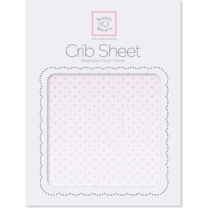 Детская простынь SwaddleDesigns Fitted Crib Sheet Lt. PP w/PP Dots (SD-157PP) sweet jojo designs elizabeth fitted crib sheet