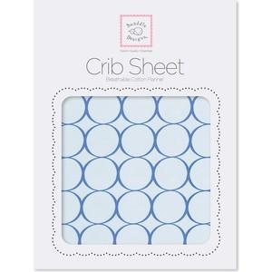 Детская простынь SwaddleDesigns Fitted Crib Sheet True Blue Mod (SD-436TB)
