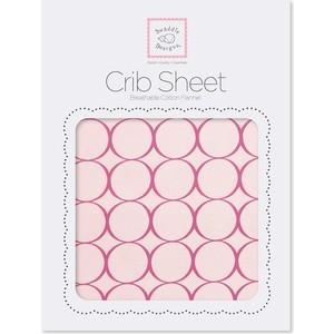 Детская простынь SwaddleDesigns Fitted Crib Sheet Very Berry Mod (SD-436VB) платочек обнимашка swaddledesigns baby lovie плюшевая нежность very berry puff c sd 167vb