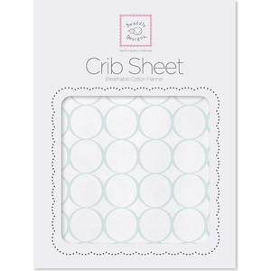 купить Детская простынь SwaddleDesigns Fitted Crib Sheet Mod Circles on White (SD-152SC) онлайн