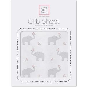 Детская простынь SwaddleDesigns Fitted Crib Sheet PP Elephant and Chickie (SD-473PP) 250mmx500mmx0 3mm 100% carbon fiber plate panel sheet 3k plain weave glossy