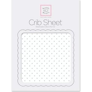 Детская простынь SwaddleDesigns Fitted Crib Sheet SeaCrystal Dot (SD-150SC) dot