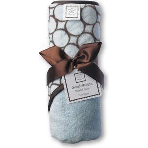 Полотенце с капюшоном SwaddleDesigns Полотенце с капюшоном Hooded Towel Blue w/BR Mod C (SD-060PB)