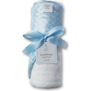 Полотенце с капюшоном SwaddleDesigns Полотенце с капюшоном Hooded Towel WH w/BL Mini Mod (SD-114PB) полотенце nike sport towel n tt 01 969 lg