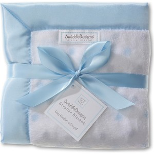 Детский плед в коляску SwaddleDesigns в коляску Stroller Blanket PBandSterlingDot(SD-430PB) детский плед swaddledesigns stroller blanket bavarian rhombus blue sd b020b