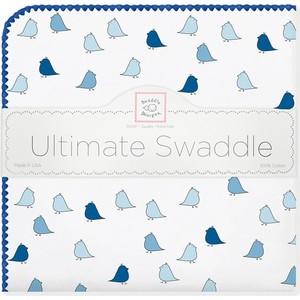 Фланелевая пеленка SwaddleDesigns для новорожденного TB Lt. Chickies (SD-404TB) фланелевая пеленка swaddledesigns для новорожденного blue big dot lt dot sd 492b