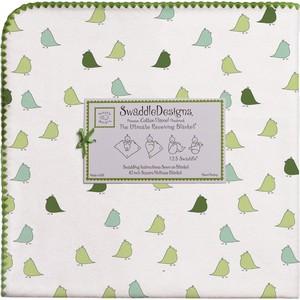 Фланелевая пеленка SwaddleDesigns для новорожденного PG Lt. Chickies (SD-404PG) фланелевая пеленка swaddledesigns для новорожденного blue big dot lt dot sd 492b