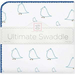 Фланелевая пеленка SwaddleDesigns для новорожденного Blue Chickies (SD-162B) фланелевая пеленка swaddledesigns для новорожденного blue big dot lt dot sd 492b