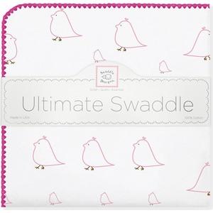 Фланелевая пеленка SwaddleDesigns для новорожденного Pink Chickies (SD-162P) фланелевая пеленка swaddledesigns для новорожденного sterling mod wh sd 022st sd 022kw