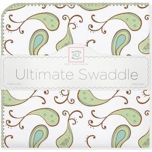 Фланелевая пеленка SwaddleDesigns для новорожденного Kiwi Paisley (SD-120KW)