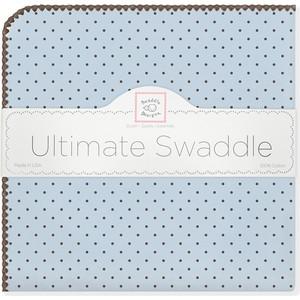 Фланелевая пеленка SwaddleDesigns для новорожденного Blue w/BR Dot (SD-014PB) фланелевая пеленка swaddledesigns для новорожденного blue big dot lt dot sd 492b