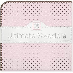 Фланелевая пеленка SwaddleDesigns для новорожденного Pink w/BR Dot (SD-014PP) фланелевая пеленка swaddledesigns для новорожденного blue big dot lt dot sd 492b