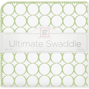 цена Фланелевая пеленка SwaddleDesigns для новорожденного Kiwi Mod on WH (SD-022KW) онлайн в 2017 году