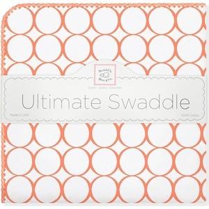 Фланелевая пеленка SwaddleDesigns для новорожденного Orange Mod/WH (SD-022O) цены