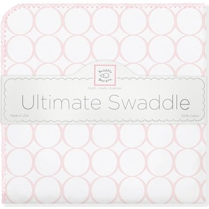 Фланелевая пеленка SwaddleDesigns для новорожденного Pink Mod on WH (SD-022PP) цены