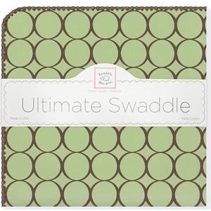 Фланелевая пеленка SwaddleDesigns для новорожденного Lime w/BR Mod C (SD-016LM) цены