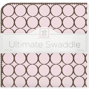 Фланелевая пеленка SwaddleDesigns для новорожденного Pink w/BR Mod C (SD-016PP)