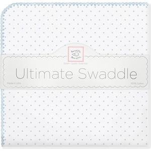 Фланелевая пеленка SwaddleDesigns для новорожденного Pstl Blue Dot (SD-001PB)