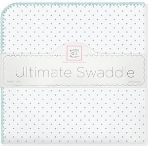 Фланелевая пеленка SwaddleDesigns для новорожденного SeaCrystal Dot (SD-001SC) фланелевая пеленка swaddledesigns для новорожденного blue big dot lt dot sd 492b