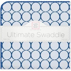 Фланелевая пеленка SwaddleDesigns для новорожденного Кружки - голубой (SD-400TB)