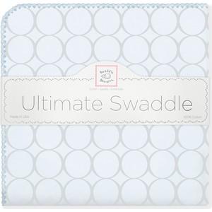 Фланелевая пеленка SwaddleDesigns для новорожденного Пастель круги голубая (SD-350SB) фланелевая пеленка swaddledesigns для новорожденного sterling mod wh sd 022st sd 022kw