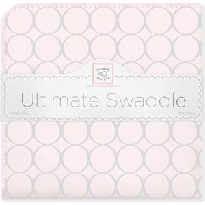 Фланелевая пеленка SwaddleDesigns для новорожденного Пастель круги розовая (SD-350SP) фланелевая пеленка swaddledesigns для новорожденного pstl blue paisley sd 120pb
