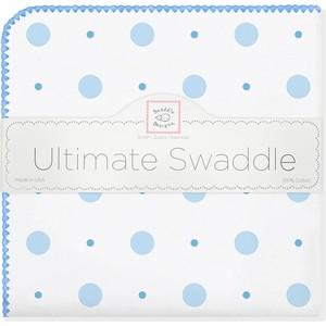 Фланелевая пеленка SwaddleDesigns для новорожденного Blue Big Dot Lt Dot (SD-492B) фланелевая пеленка swaddledesigns для новорожденного blue big dot lt dot sd 492b