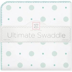 Фланелевая пеленка SwaddleDesigns для новорожденного SC Big Dot Lt Dot (SD-492SC) фланелевая пеленка swaddledesigns для новорожденного blue big dot lt dot sd 492b