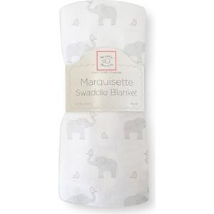 Пеленка детская тонкая SwaddleDesigns Маркизет PP Elephant/Chickies (SD-458PP)
