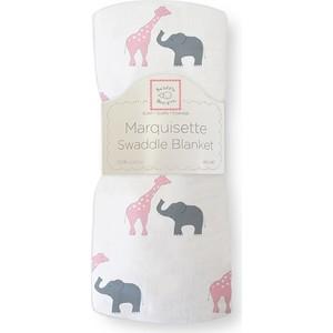 Пеленка детская тонкая SwaddleDesigns Маркизет P Giraffe/Elephant (SD-456P) пеленка детская тонкая swaddledesigns маркизет sc elephant chickies sd 458sc