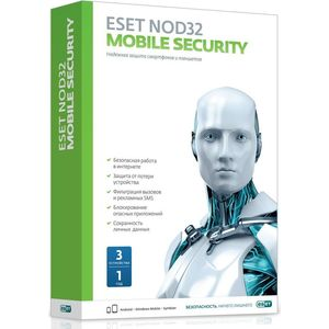 Антивирус ESET NOD32 Mobile Security 3 устройства/1 год (NOD32-ENM2-NS(BOX)-1-1 ) по eset nod32 internet security platinum edition 3 устройства 2 годa box nod32 eis ns box 2 3