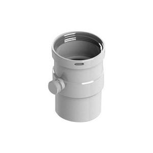 Патрубок STOUT горизонтальный диаметр 80 п/м со штуцером для отвода конденсата лого (SCA-0080-020135)